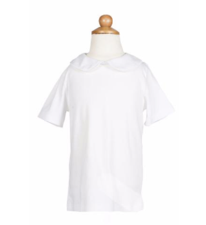 Hayden Peter Pan Collar Short Sleeve - White (Pima Cotton)
