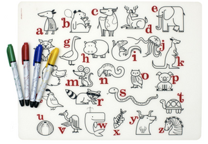 Mark-Mat Set: Alphabet Animals + 4 Markers