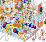 Giant Coloring Poster - Santa's Workshop