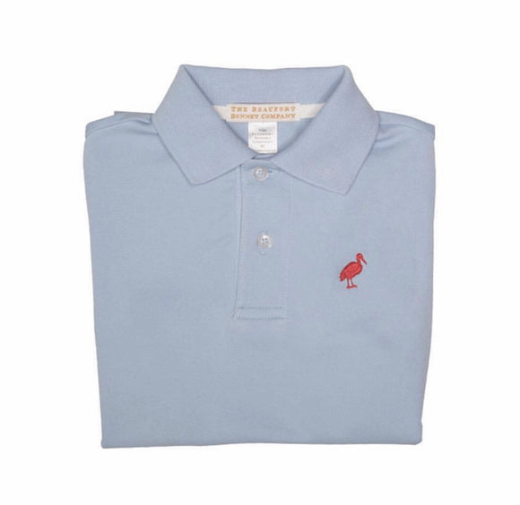 Prim & Proper Polo - Buckhead Blue with Richmond Red Stork