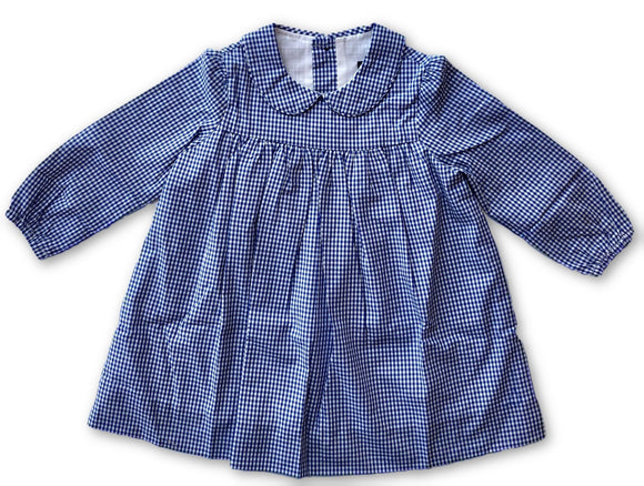 Ginny Dress - Blue Gingham Check