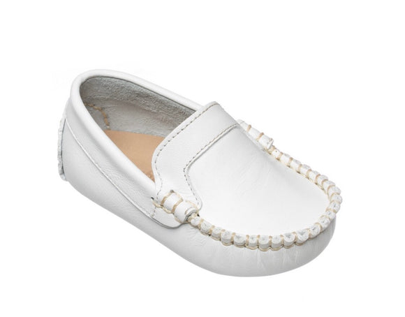 Baby Moccasin - Leather White (BB105)