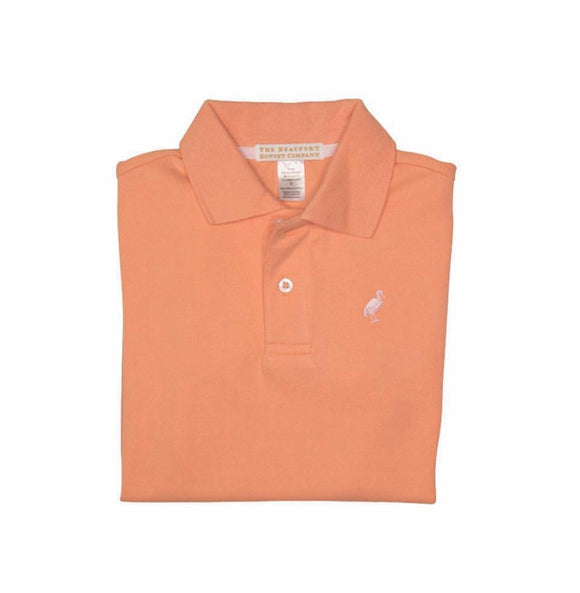 Prim & Proper Polo - Seashore Sherbert with Plantation Pink Stork