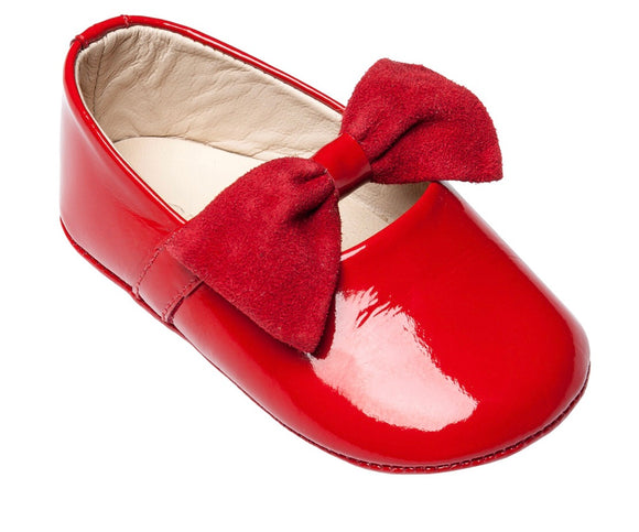 Baby Ballerina With Bow- Patent Red (BB23)