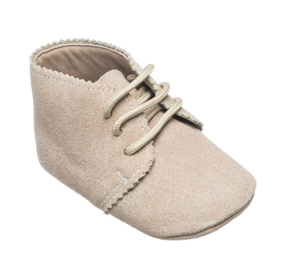 Baby Scalloped Bootie - Sand (BB87B)