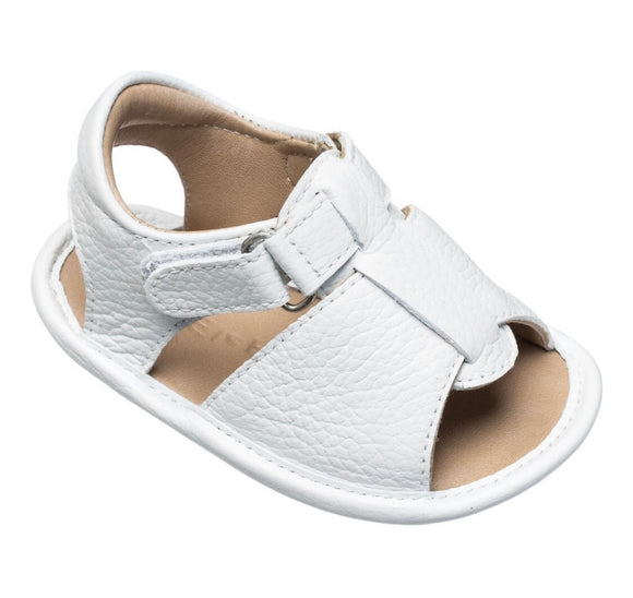 Baby Boy Sandal - Leather White (BB135)