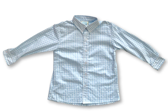 Button Down - Light Blue Gingham