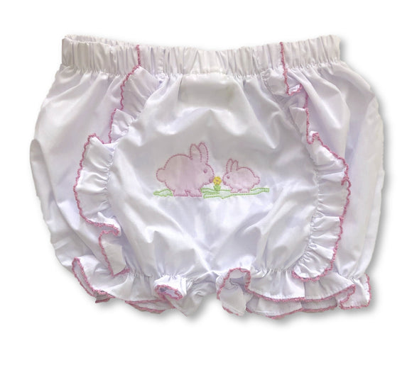 Embroidered Bunny Bloomer