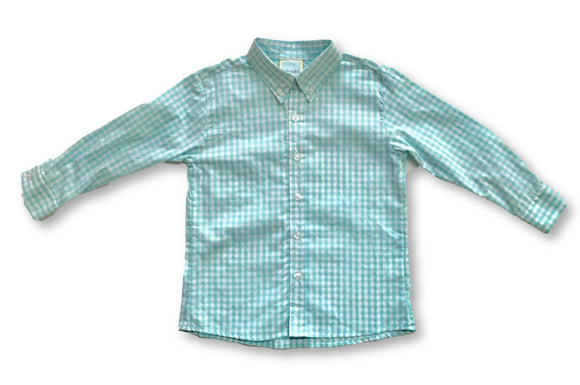 Button Down - Aqua Gingham