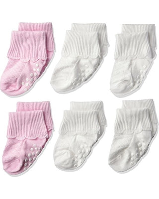 Girl Multi Pack Sock (White, Pink, & White) - Style 62102