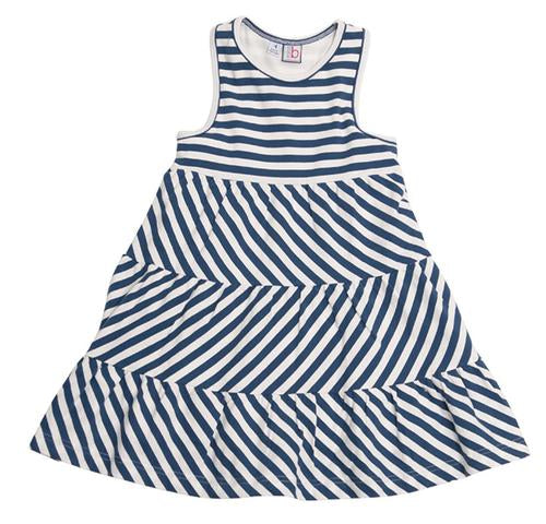 Parker Racerback Dress - Varsity Blue Stripe Knit