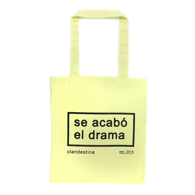 Drama is over tote bag