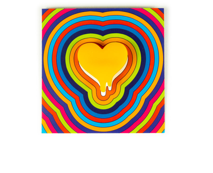 Melted Acrylic Heart