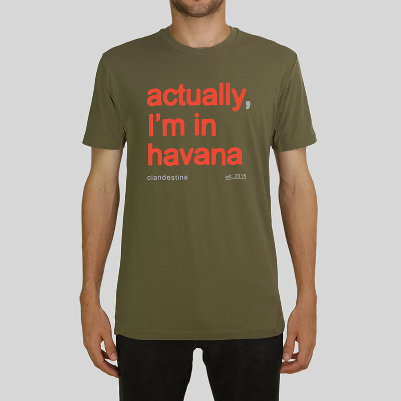 Actually, I'm in Havana Men's Tee