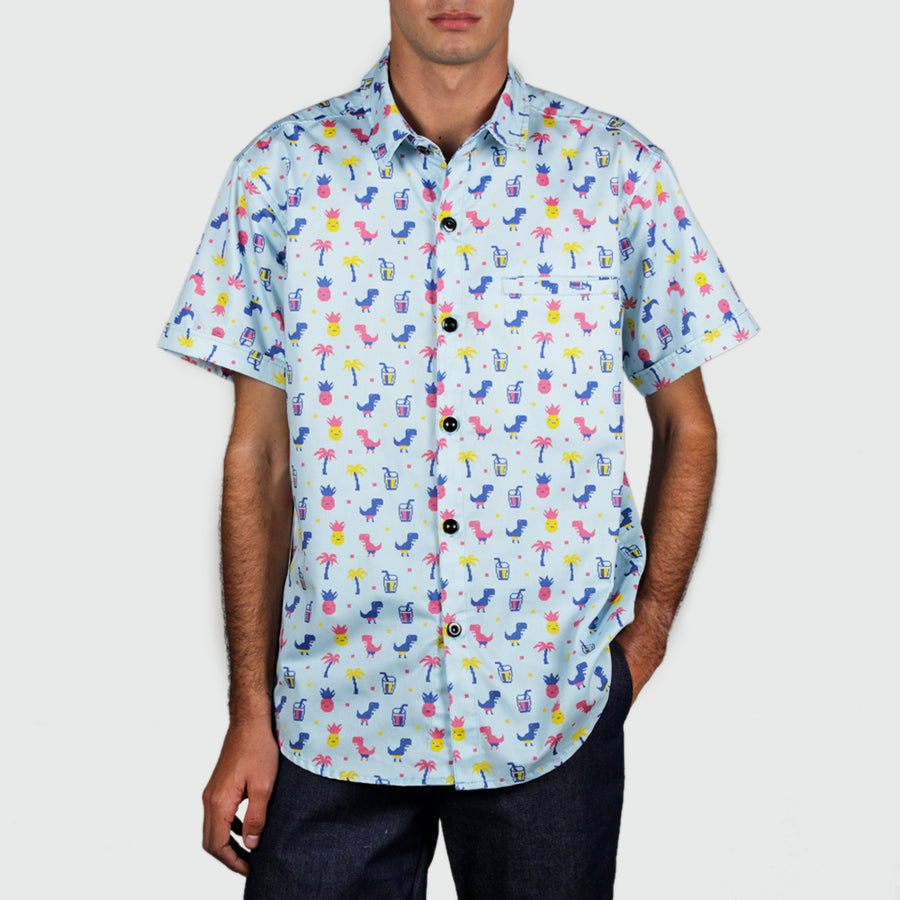 DINO Patterned Button-Down (Mens)