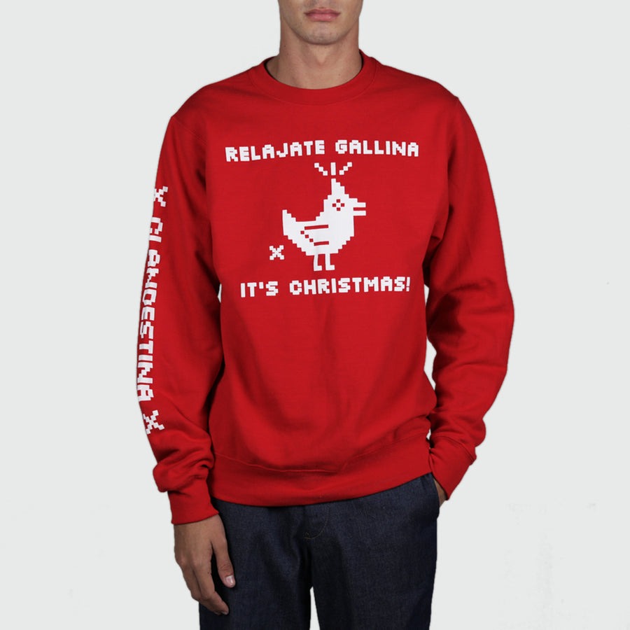 Chill Out, Chicken, It's A Christmas Sweatshirt
