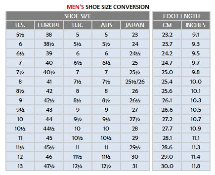 migocha mens shoes sizing chart
