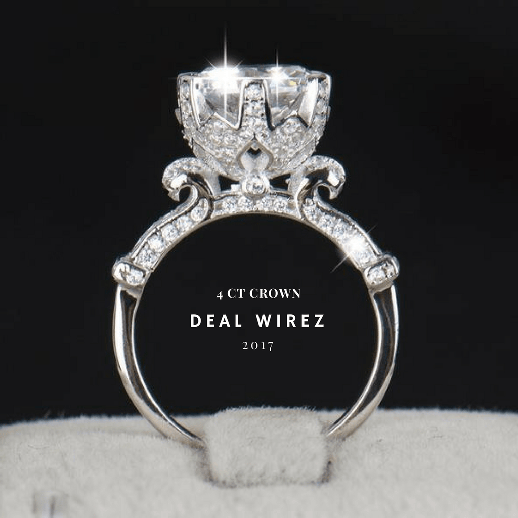 Limited edition 4ct sterling silver flower crown ring deal wirez limited edition 4ct sterling silver flower crown ring izmirmasajfo Image collections