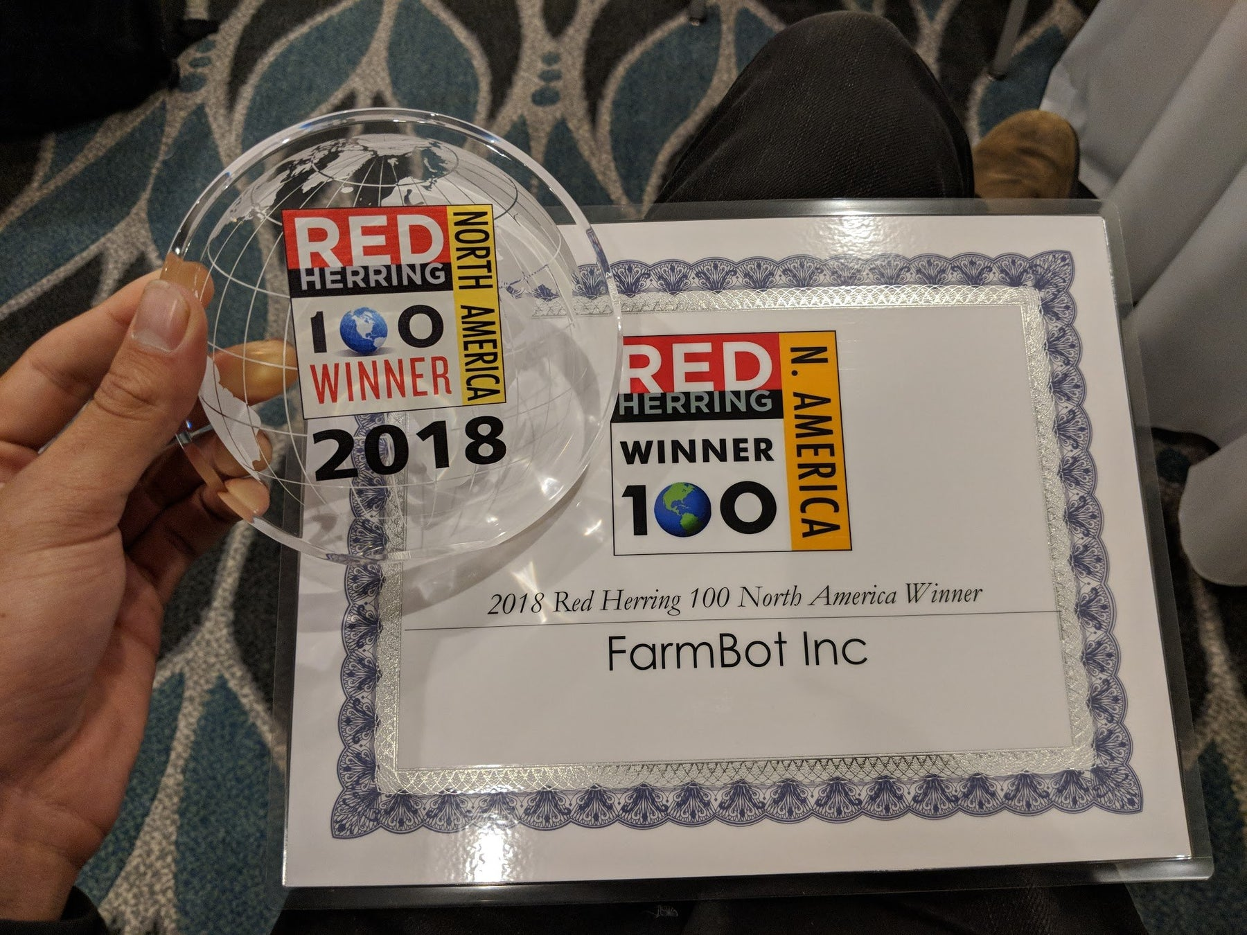 FarmBot Chosen as a 2018 Red Herring Top 100 North America Winner