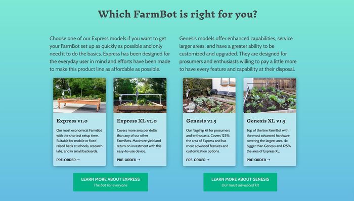 Which FarmBot is right for you?