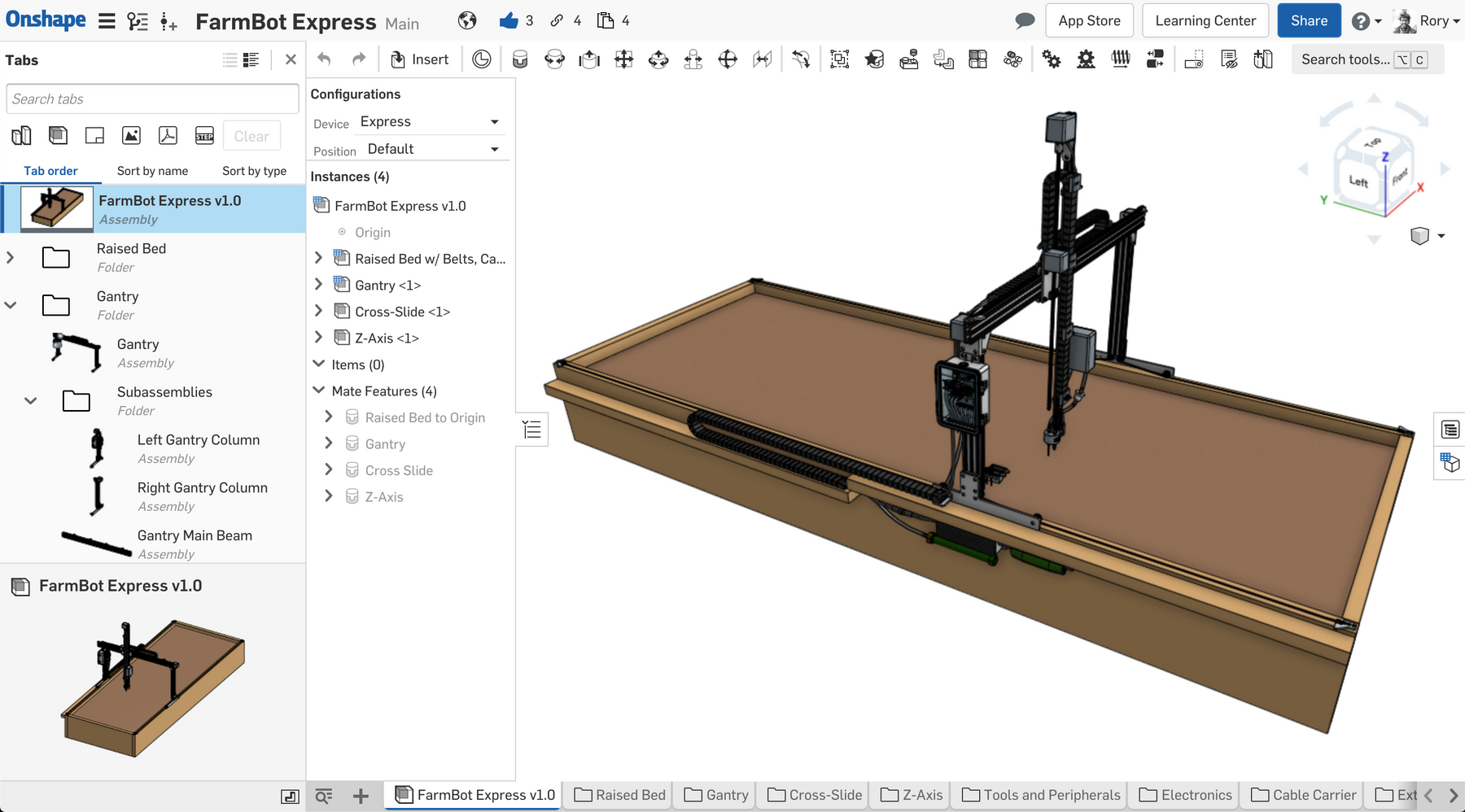 FarmBot Express v1.0 CAD Models: Now Available