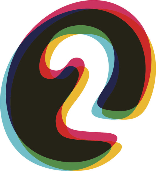 3-D Numerical Number Icon #2 Vinyl Decal Sticker