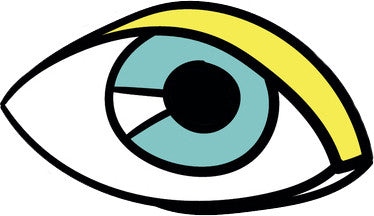 90's Teen Girl Theme Cartoon Icon - Eye Vinyl Decal Sticker