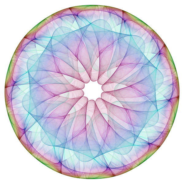 Abstract Tie-Dye Circle Design #1 Vinyl Decal Sticker