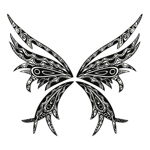 Abstract Tribal Pattern Butterfly Vinyl Decal Sticker