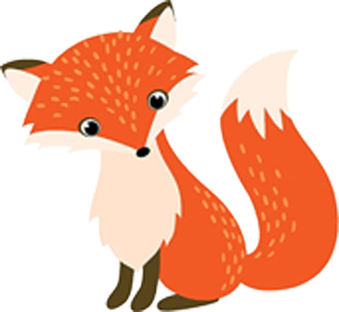 Adorable Cute Nursery Cartoon Forest Animal Critter - Fox Vinyl Decal Sticker
