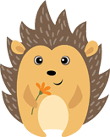 Adorable Cute Nursery Cartoon Forest Animal Critter - Porcupine Hedgehog Vinyl Decal Sticker