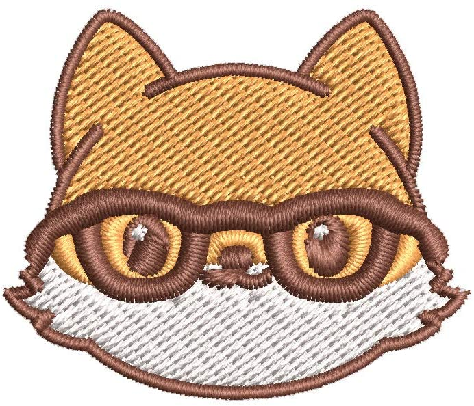 Iron on / Sew On Patch Applique Adorable Kawaii Fox Emoji Cartoon #1 - Nerdy Embroidered Design