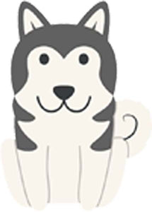 Adorable Pure Breed American Puppy Dog Cartoon - Alaskan Malamute Vinyl Decal Sticker
