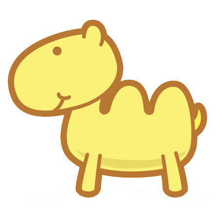 Adorable Baby Animal Cartoon - Camel Vinyl Decal Sticker