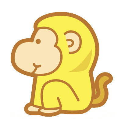Adorable Baby Animal Cartoon - Monkey Vinyl Decal Sticker