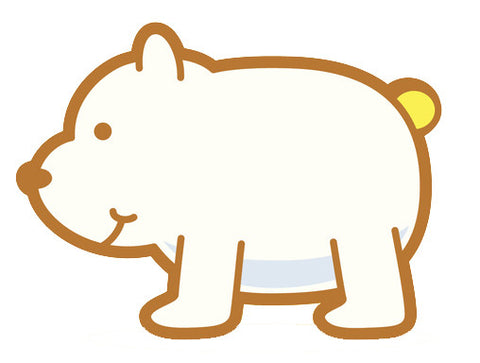 Adorable Baby Animal Cartoon - Polar Bear Cub Vinyl Decal Sticker