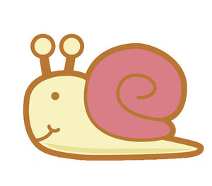 Adorable Baby Animal Cartoon - Snail Vinyl Decal Sticker