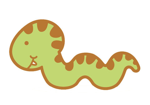 Adorable Baby Animal Cartoon - Snake Vinyl Decal Sticker