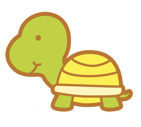 Adorable Baby Animal Cartoon - Turtle Vinyl Decal Sticker