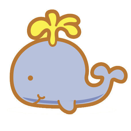 Adorable Baby Animal Cartoon - Whale Vinyl Decal Sticker