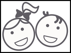 Adorable Baby Child Siblings #5 Vinyl Decal Sticker