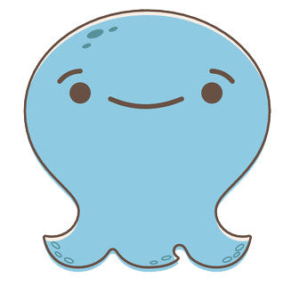 Adorable Baby Octopus Ghost Emoji - Smiley Vinyl Decal Sticker