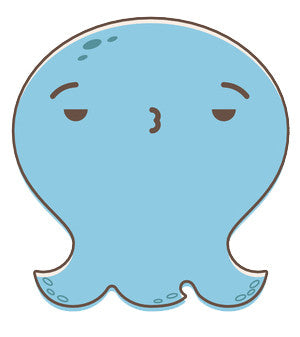 Adorable Baby Octopus Ghost Emoji - Whatever Vinyl Decal Sticker