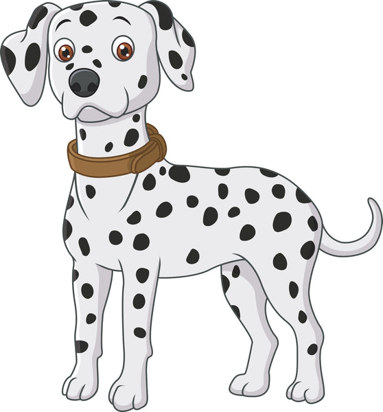 Adorable Cute Classic Dalmatian Puppy Dog Cartoon Vinyl Decal Sticker