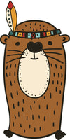 Adorable Cute Forest Totem Animal Golden Cartoon - Squirrel Vinyl Decal Sticker