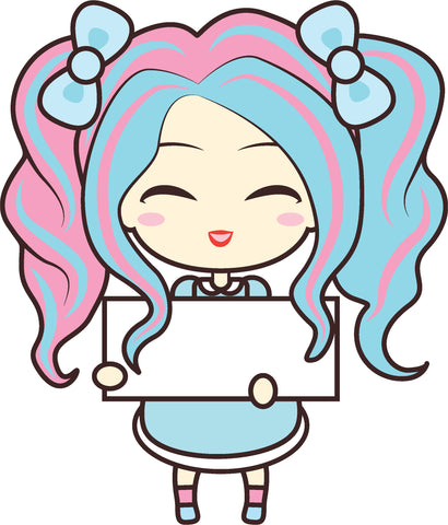 Adorable Cute Japanese Kawaii Girl Cartoon Emoji #7 Vinyl Decal Sticker