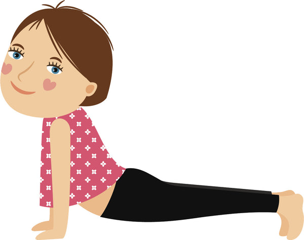 Adorable Cute Kid Yoga Yogi Exercise Cartoon #4 Vinyl Decal Sticker