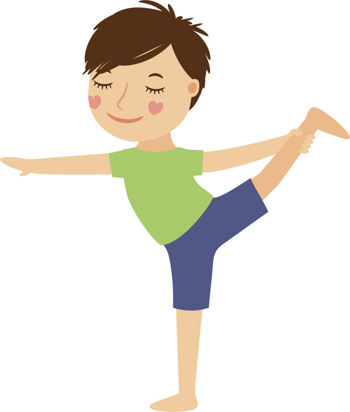 Adorable Cute Kid Yoga Yogi Exercise Cartoon #8 Vinyl Decal Sticker