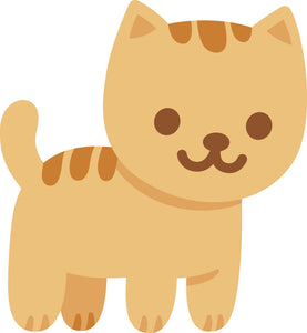 Adorable Cute Orange Stripe Kitty Cat Cartoon #1 Vinyl Decal Sticker