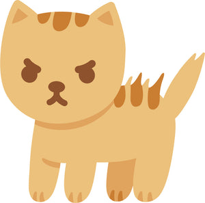 Adorable Cute Orange Stripe Kitty Cat Cartoon #3 Vinyl Decal Sticker